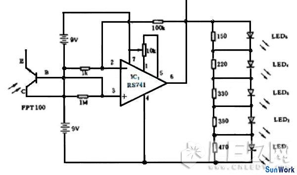 图:led日光灯驱动电路图